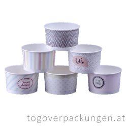 Eiscbecher - 130 ml, pastell / 25 Stück