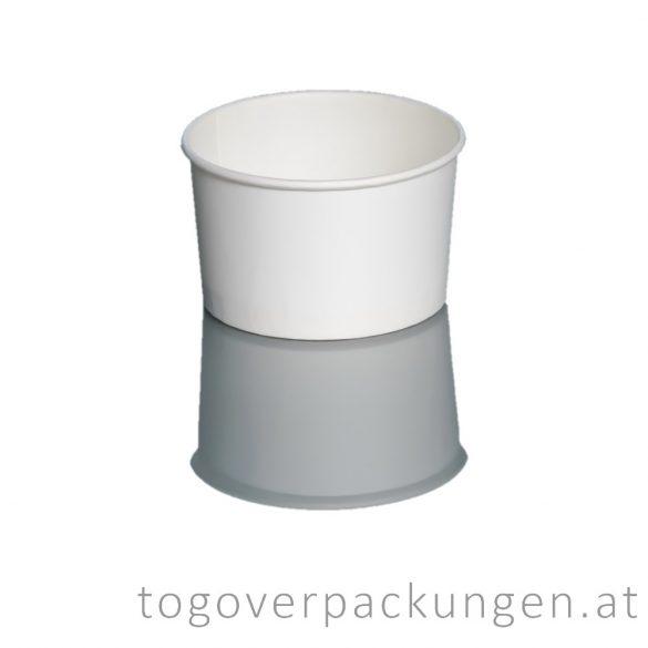Eisbecher - 245 ml, weiß / 25 Stück