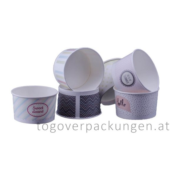 Eiscbecher - 245 ml, pastell / 25 Stück
