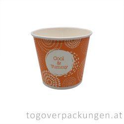 "Eiscbecher - 350 ml, ""Cool & Yummy"" / 50 Stück"