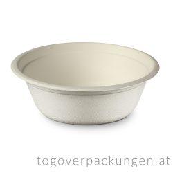 """Zuckerrohr-Suppenteller """"FIBER"""", 500 ml / 50 Stück"""