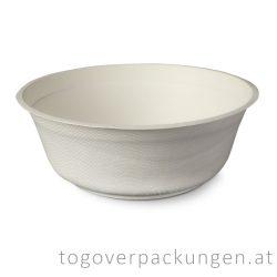 """Zuckerrohr-Suppenteller """"FIBER"""", 950 ml / 50 Stück"""