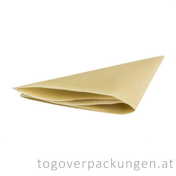 Burgerpapier, 300 x 300 mm, Kraft / 1000 Stück