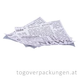 """Burgerpapier """"News"""", 300 x 300 mm / 200 Stück"""