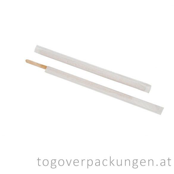 Holz-Kaffeestäbchen, 140 mm - einzeln verpackt / 500 Stück