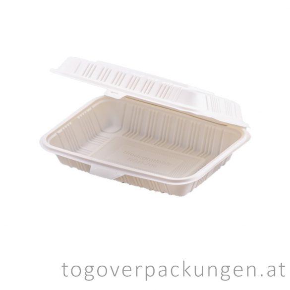 Kompostierbare CPLA Menübox / 100 Stück