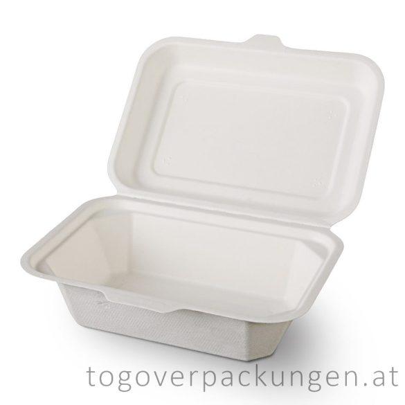 Kompostierbare Zuckerrohr-Menübox für Dessert, 180 x 140 x 70 mm / 150 Stück