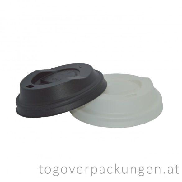 Bio CPLA Deckel für 220 ml Pappbecher, schwarz / 100 Stück