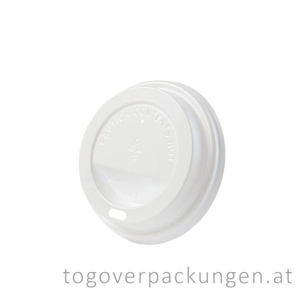CPLA Deckel, 80 mm, weiß / 50 Stück