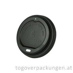 CPLA Deckel, 80 mm, schwarz / 50 Stück