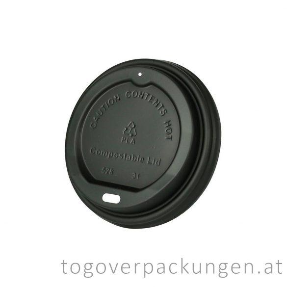 CPLA Deckel, 90 mm, schwarz / 50 Stück