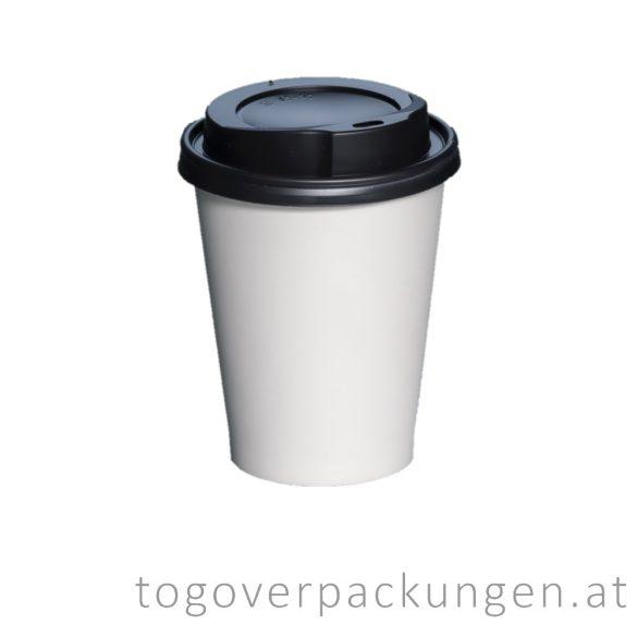 Deckel für 300-340-450 ml Pappbecher, schwarz / 100 Stück