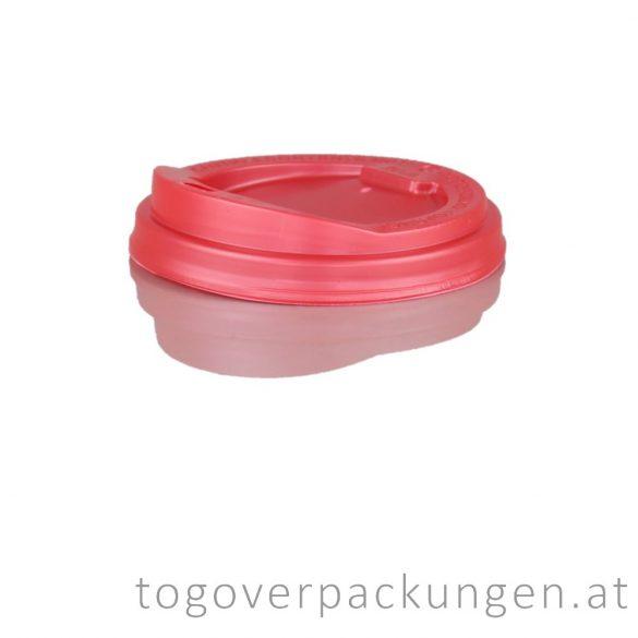 Deckel für 300-340-450 ml Pappbecher, rot / 100 Stück