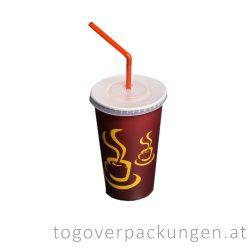 Flachdeckel für 300-340-450 ml Pappbecher, mit Kreuzschlitz / 50 Stück