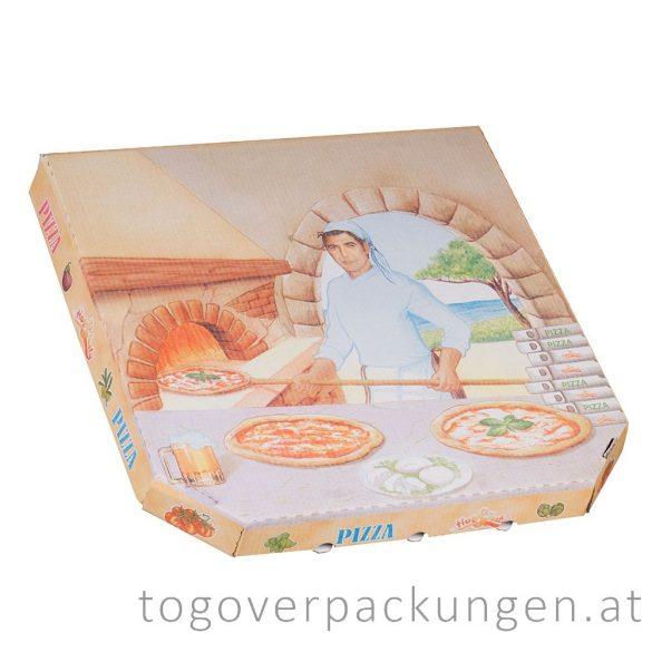 Pizzakarton, 330 x 330 x 30 mm / 100 Stück