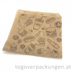"Pita- Burgertasche ""Streetfood"", 180 x 180 mm / 200 Stück"