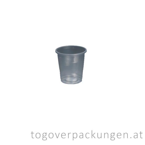 Plastikbecher, 100 ml, transparent / 100 Stück