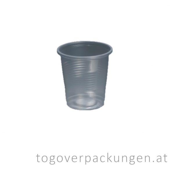 Plastikbecher, 200 ml, transparent / 100 Stück
