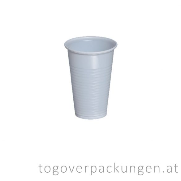 Plastikbecher, 200 ml, weiß / 100 Stück