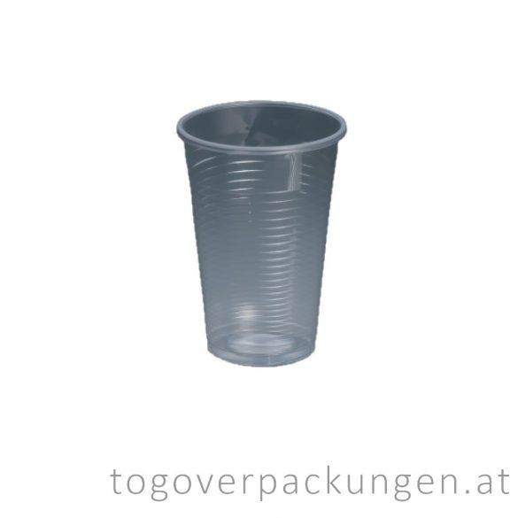 Plastikbecher, 300 ml, transparent / 100 Stück