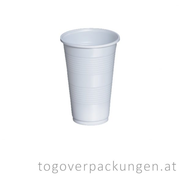 Plastikbecher, 300 ml, weiß / 100 Stück