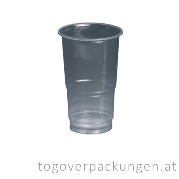 Plastikbecher, 500 ml, transparent / 100 Stück