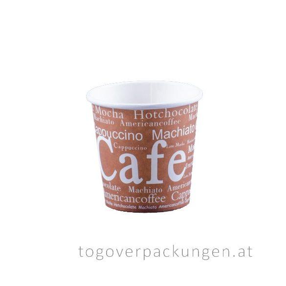 """Pappbecher """"Cafe"""", 100 ml / 50 Stück"""