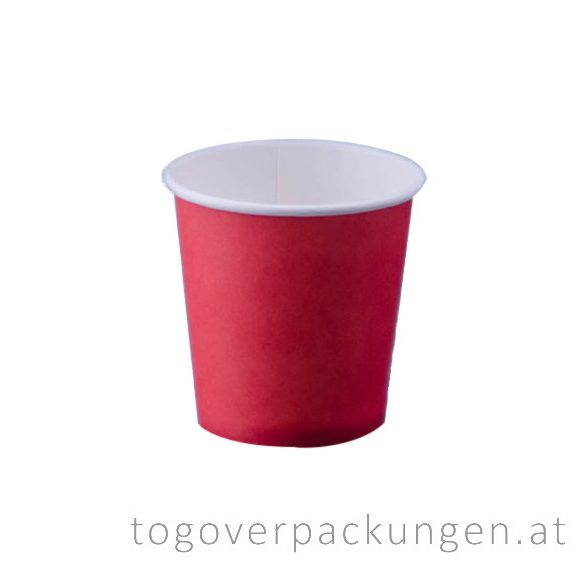 "Pappbecher ""Red"", 100 ml / 50 Stück"
