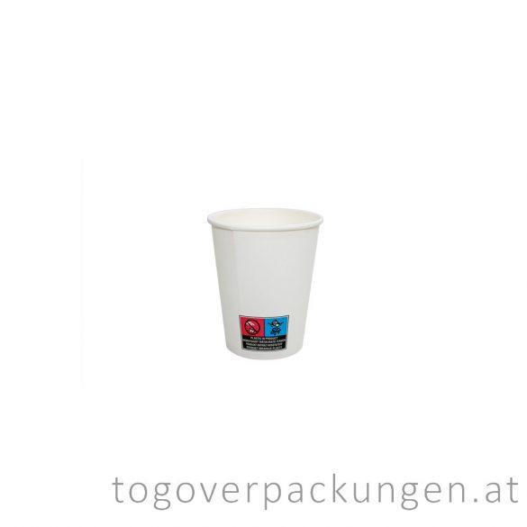 Pappbecher, weiß, 100 ml, 65 mm / 50 Stück
