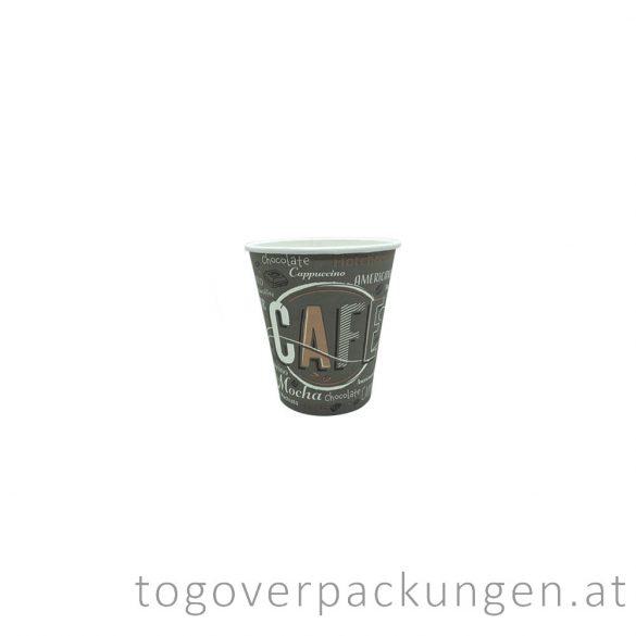 "Pappbecher ""COFFEE NEW"", 100 ml, 65 mm / 50 Stück"