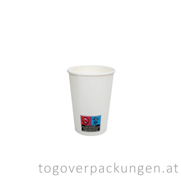 Pappbecher, weiß, 180 ml, 70 mm / 50 Stück