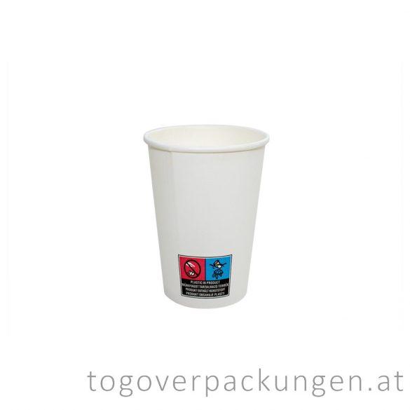 Pappbecher, weiß, 220 ml / 50 Stück