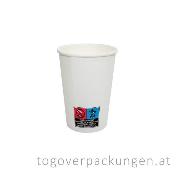Pappbecher, weiß, 340 ml / 50 Stück