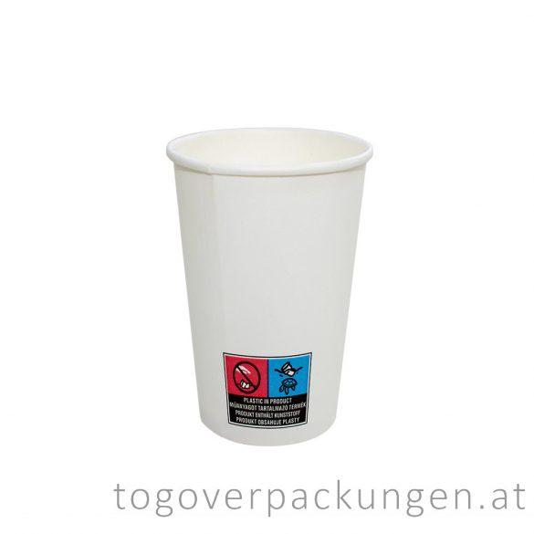 Pappbecher, weiß, 450 ml / 50 Stück