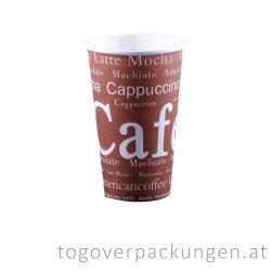 """Pappbecher """"Cafe"""", 450 ml / 50 Stück"""