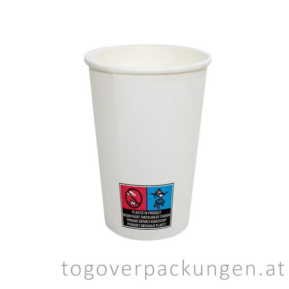 Pappbecher, weiß, 550 ml / 50 Stück