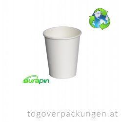 Abbaubarer Pappbecher mit PLA-Beschichtung, 220 ml / 50 Stück