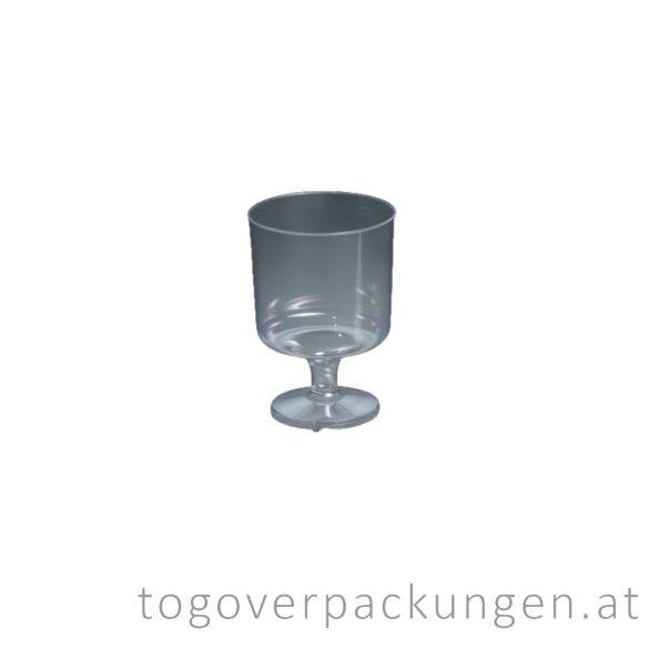 Plastikbecher - Wein, 100 ml, transparent / 15 Stück