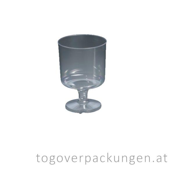 Plastikbecher - Wein, 200 ml, transparent / 10 Stück