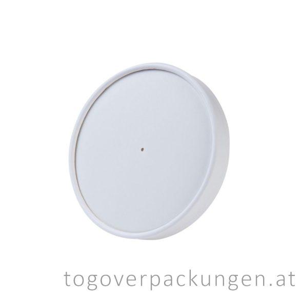 """Pappdeckel für 500 ml """"Soup-To-Go"""" Suppenbecher """"MALAGA"""", weiß, 118 mm / 100 Stück"""