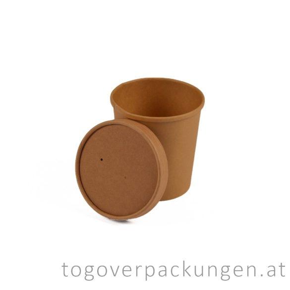 """Deckel für 300 ml  """"Soup-To-Go"""" Suppenbecher """"GRANADA"""", Kraft / 25 Stück"""
