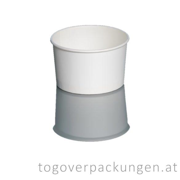 Abbaubarer Suppenbecher mit PLA-Beschichtung, weiß, 180 ml / 50 Stück