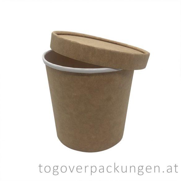 """""""Soup-To-Go"""" Suppenbecher """"MONACO"""", 600 ml, braun-weiß, 108 mm / 50 Stück"""
