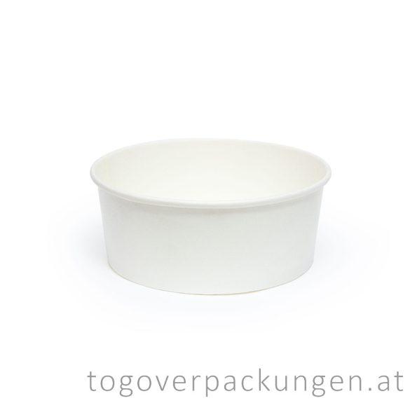 Kraftkarton-Schale 750 ml, weiß / 50 Stück