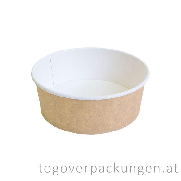 Kraftkarton-Schale 750 ml, braun-weiß / 50 Stück