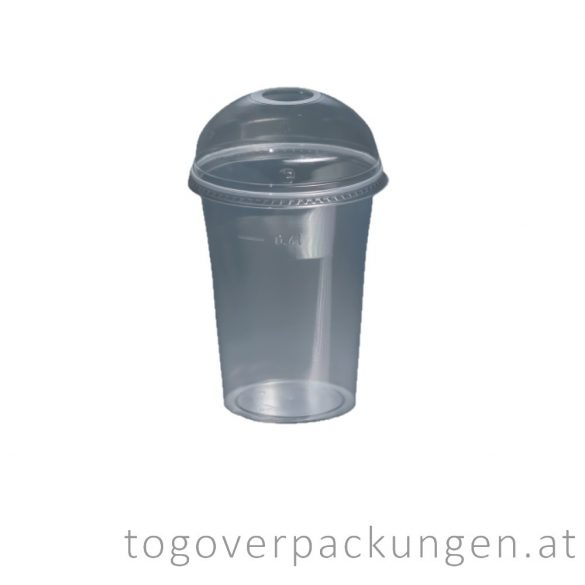Domdeckel für Shake-Becher mit Loch / 50 Stück