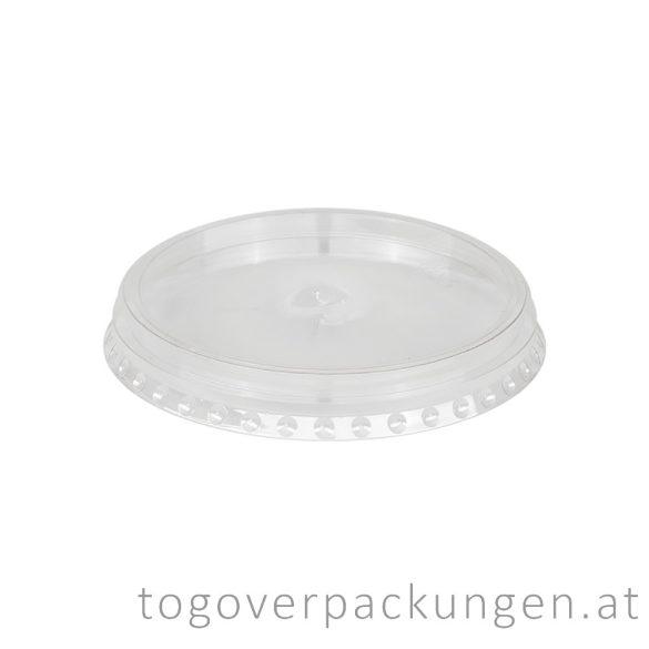 Flachdeckel für Shake-Becher mit Kreutzschlitz / 100 Stück