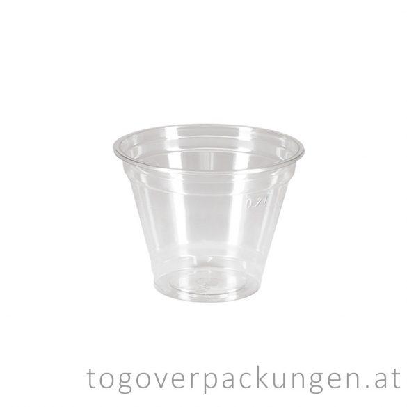 Shake-Becher, 200 ml, PET / 50 Stück