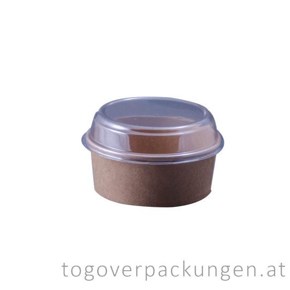 Plastikdeckel für 750 ml Kraftkarton-Schale / 90 Stück