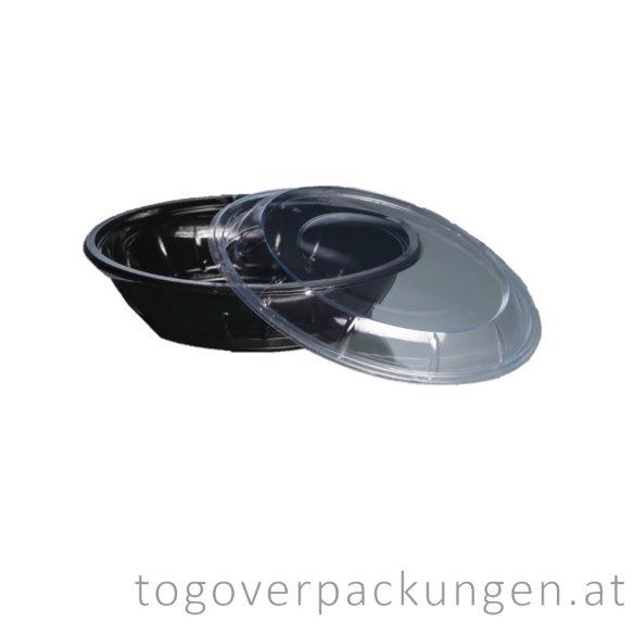 Deckel für 500 ml Salatschale, rund, transparent / 50 Stück